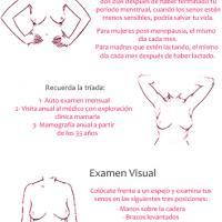 Examen de las mamas por si hay nódulos o bultos